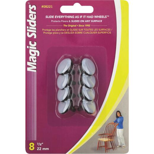 Magic Sliders 7/8 In. Round Nail on Furniture Glide,(8-Pack)