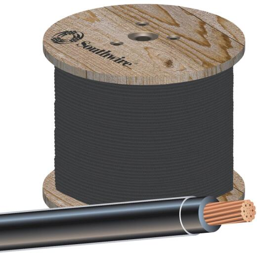 Southwire 500 Ft. 4 AWG Stranded Black THHN Wire