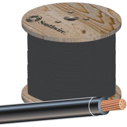 Southwire 500 Ft. 1/0 AWG Stranded Black THHN Wire