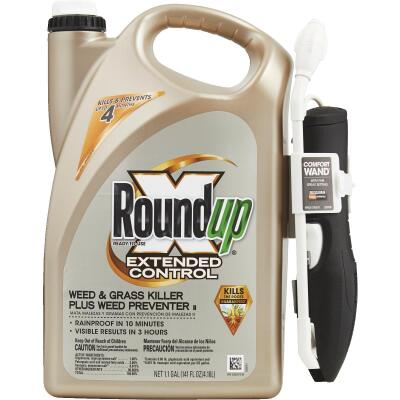 Roundup Extended Control 1.1 Gal. Ready To Use Wand Sprayer Weed & Grass Killer Plus Weed Preventer II