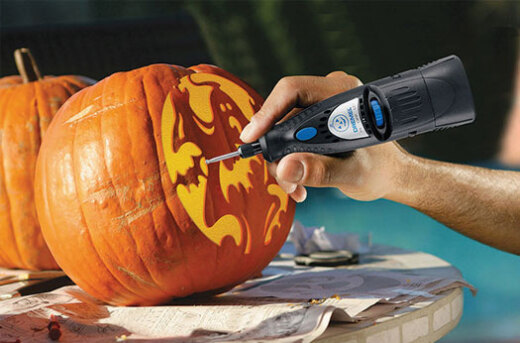 Easy Pumpkin Carving with a Dremel